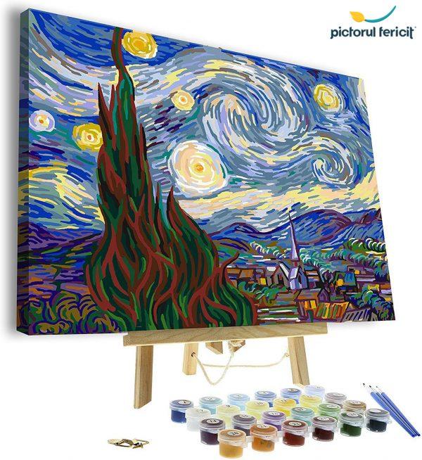 pictura pe numere pictorul fericit